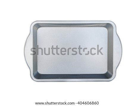 material baking tray for baking bread and savory meatloaf. non-stick coating. isolated on white.