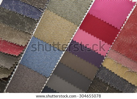 Material fabric color samples - stock photo