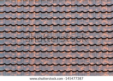 Material of brown house roof