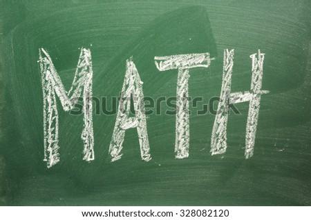 Math chalkboard background - stock photo