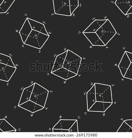 math doodle seamless pattern background - stock photo