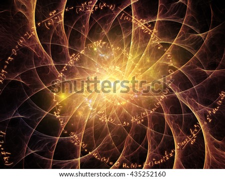 Math is Forever series. Background design of mathematical formulas and fractals on the subject of math, geometry, design, education and science