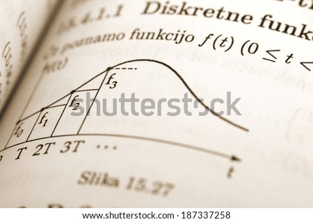 Mathematic learning book - stock photo