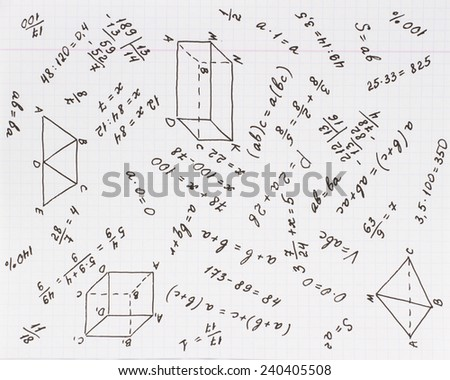 Mathematical calculation on the school list in the cell/ Mathematics