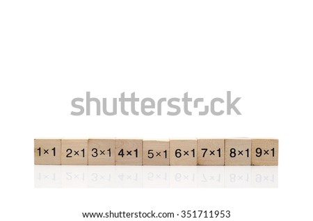 Mathematical formula cube isolated on white background