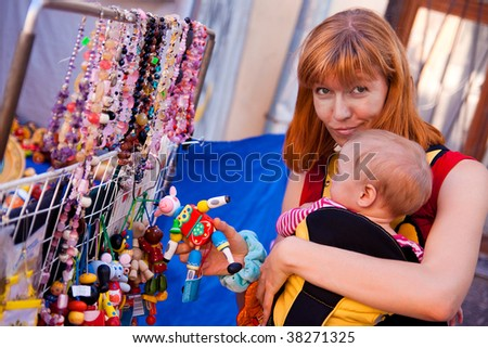mather buy toy for her child