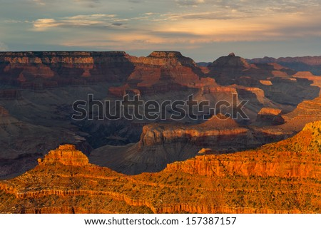 Mather Point Sunset Grand Canyon National Park