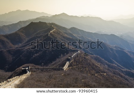 Matianyu Great Wall - Xian, China - stock photo