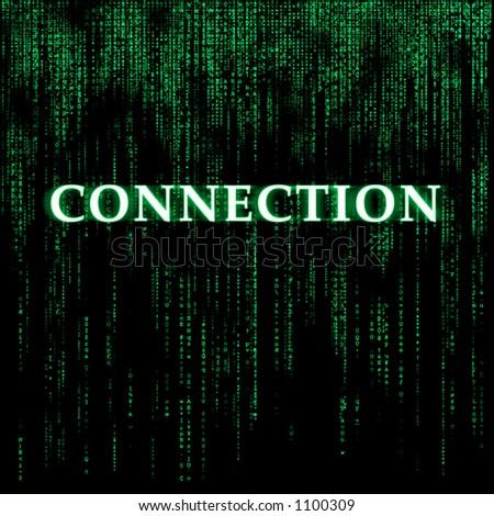 Matrix-like background - Connection - stock photo