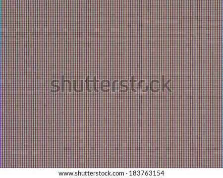 Matrix of modern LCD. Macro. - stock photo