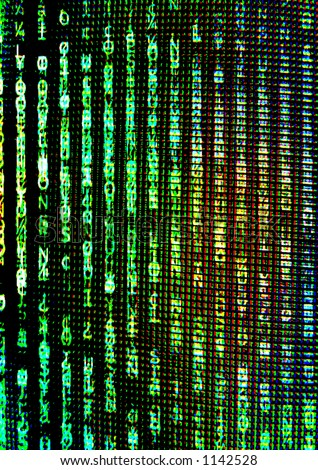 matrix style digital display - stock photo