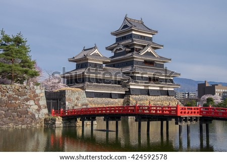 Matsumoto Castle during the day, Matsumoto Japan