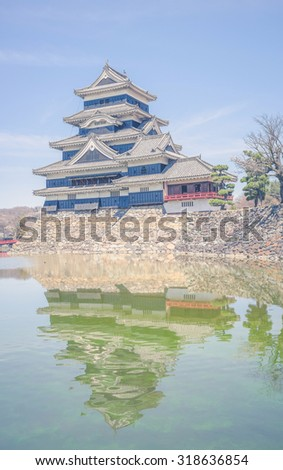 Matsumoto Castle is one of the most complete and beautiful among Japan's original castles ,vintage