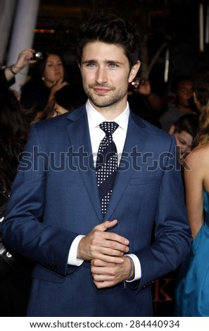 Matt Dallas at the Los Angeles premiere of 'The Twilight Saga: Breaking Dawn Part 1' held at the Nokia Theatre L.A. Live in Los Angeles on November 14, 2011.  - stock photo