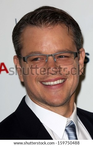 Matt Damon at the 23rd Annual Environmental Media Awards, Warner Brothers Studios, Burbank, CA 10-19-13 - stock photo