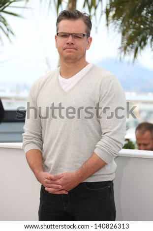 Matt Damon at the 66th Cannes Film Festival -Behind the Candelabra - photocall, Cannes, France. 21/05/2013