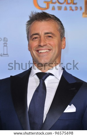 Matt Le Blanc at the 69th Golden Globe Awards at the Beverly Hilton Hotel. January 15, 2012  Beverly Hills, CA Picture: Paul Smith / Featureflash - stock photo