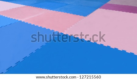 Matt to fight - MARTIAL ARTS RACING - BLUE AND PINK - BACKGROUND - stock photo