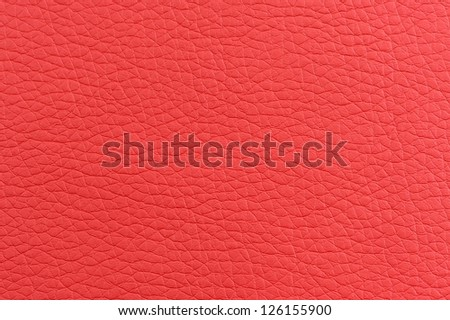 Matte Red Artificial Leather Texture - stock photo