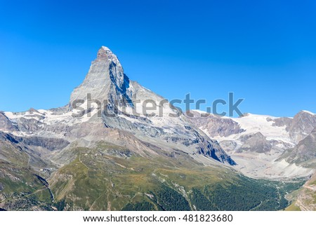 Matterhorn - beautiful landscape of Zermatt, Switzerland