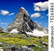 Matterhorn - Swiss alps - stock photo