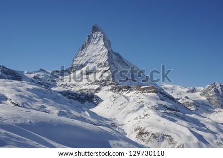 Matterhorn, view from Riffelalp - stock photo