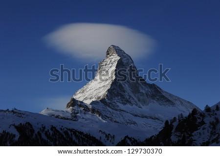 Matterhorn, view from Zermatt - stock photo