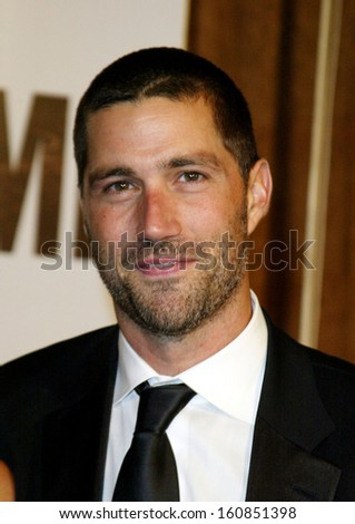 Matthew Fox at the SHOWTIME POST-EMMY PARTY at Mortons in West Hollywood, CA Sept 19, 2004