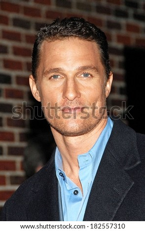Matthew McConaughey at talk show appearance for MON - Late Show with David Letterman, Ed Sullivan Theater, New York, NY, February 04, 2008