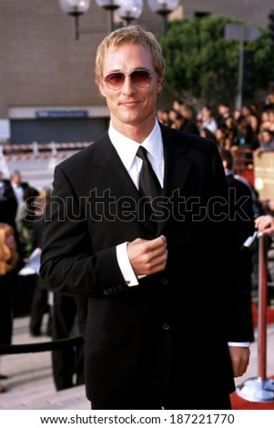 Matthew McConaughey at the ALMA Awards, LA, CA 4/16/00