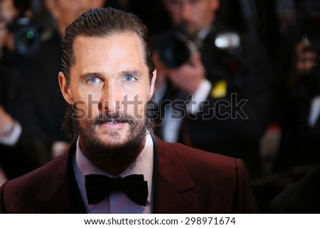 Matthew McConaughey attends the premiere of 'The Sea Of Trees' during the 68th annual Cannes Film Festival on May 16, 2015 in Cannes, France. - stock photo