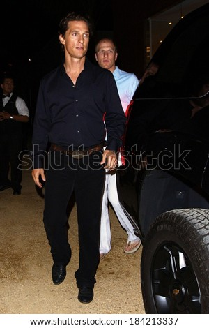 Matthew McConaughey out and about for CANDIDS - Celebrity Night Life, Malibu, Los Angeles, CA April 21, 2009