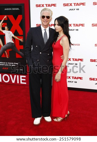 "Matthew Modine and Ruby Wylder at the Los Angeles premiere of ""Sex Tape"" held at the Regency Village Theatre in Los Angeles on July 10, 2014 in Los Angeles, California.  - stock photo"