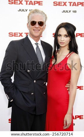"Matthew Modine and Ruby Wylder at the Los Angeles premiere of ""Sex Tape"" held at the Westwood Regency Theatre in Los Angeles, United States, 10/07/14.  - stock photo"
