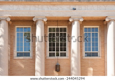 Matthews library building in Arizona State University - stock photo
