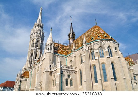 Matthias Church in Budapest - stock photo