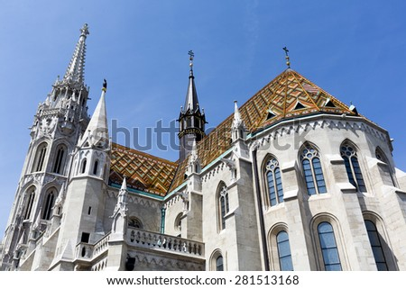 Matthias Church is a Roman Catholic church located in Budapest, Hungary, in front of the Fisherman's Bastion at the heart of Buda's Castle District.