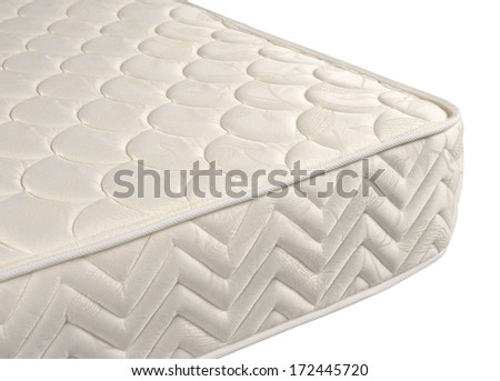 Mattress against white background. - stock photo