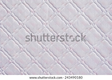 mattress cushion texture for background usage. - stock photo
