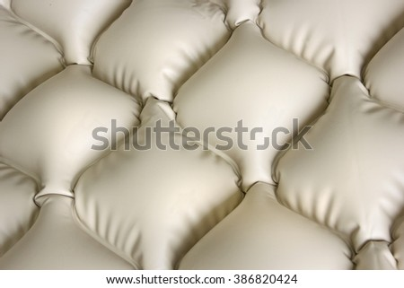 Mattress inflatable that does not allow bedsores, close up - stock photo