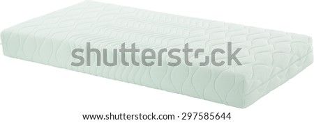 Mattress isolated on white background - stock photo