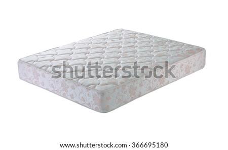 Mattress isolated on white background - stock photo