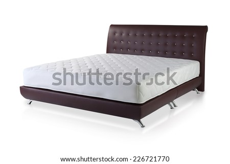 Mattress spring bed isolated on white background