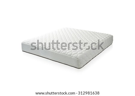 Mattress that supported you to sleep well all night, the image isolated on white background  - stock photo