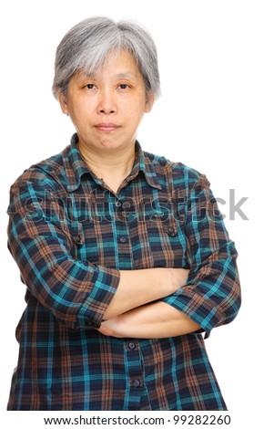 mature asian woman - stock photo