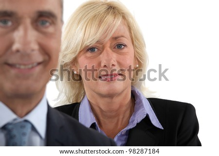 Mature business executives - stock photo