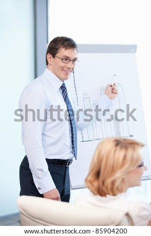 Mature business man at office - stock photo