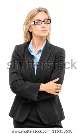 Mature business woman confident arms folded