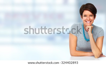 Mature business woman portrait. Accounting and finance.