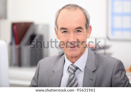 Mature businessman - stock photo